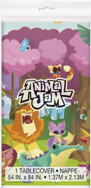 Animal Jam Plastic Table Cover